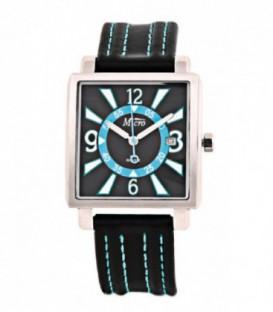 Reloj Micro caballero caja de acero correa de piel. - 2200049
