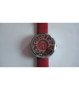 Reloj Micro sra correa roja caja cromada - 237060